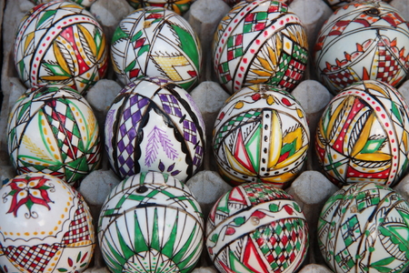 Traditional romanian painted eggs