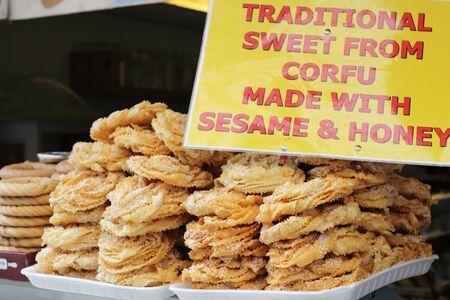 Traditonal Corfu sweet with sesame and honey