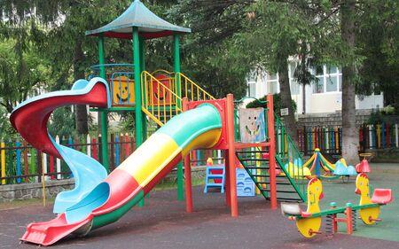 Children outdoor playing area 写真素材