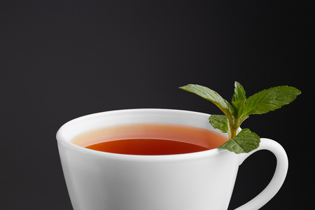 tea cup with mint