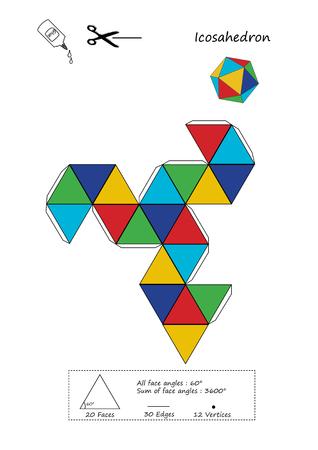 Origami Icosahedron 版權商用圖片 - 101407561
