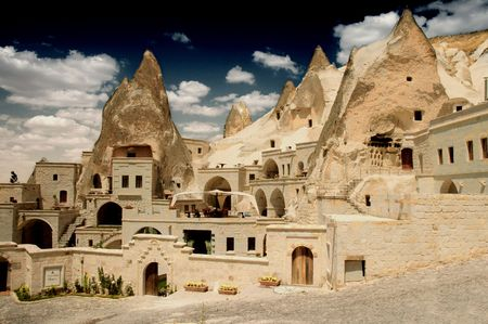 Grot woning in Goreme, Cappadocië, Turkije