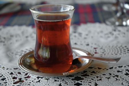 A glass of traditional turkish tea Stock Photo - 6504828