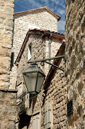 adriatic:   Narrow street of old Budva, Adriatic coast, Montenegro
