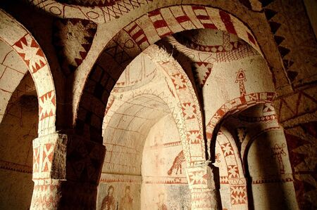 Fresco in the ancient church of Goreme, Cappadocia, Turkey