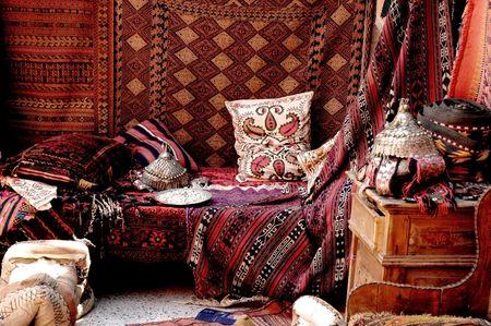 saddlebag: Turkish carpet store, bazaar