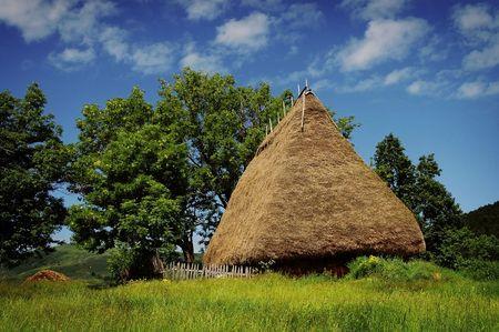 Old farmers wooden house in Transylvania, Romania  photo
