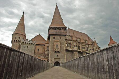 The castle of Vajdahunyad, Hunedoara, Huniazilor in Transylvania, Romania  Stock Photo
