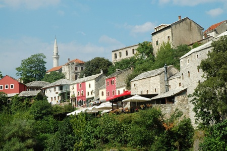 View of Mostar from the bridge, Bosnia & Herzegovina photo