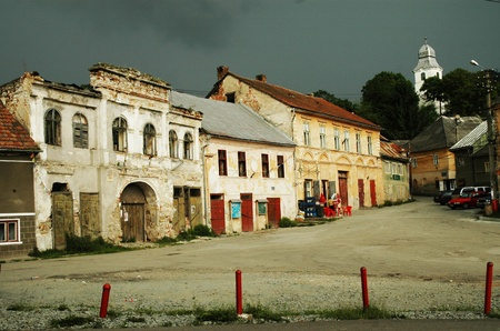 Rosia Montana, a beautiful old village in Transylvania  photo