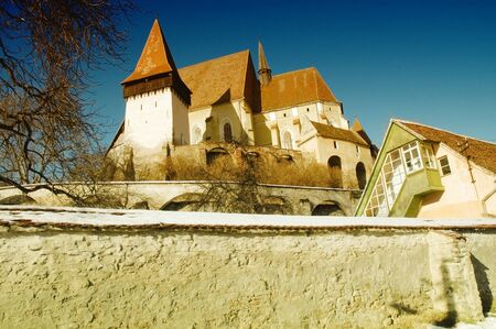 biertan: Fortified church of Biertan (Berthalm, Berethalom) in Transylvania, Romania. UNESCO heritage