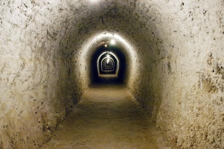 salt mine:  Salt mine corridor in Turda, Romania                                Stock Photo
