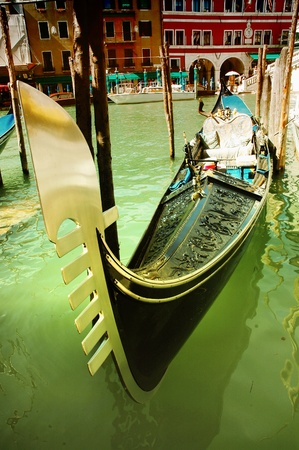 Traditional gondola in Venice, Italy photo