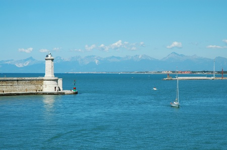 boodle: Livorno harbor, Italy. Stock Photo
