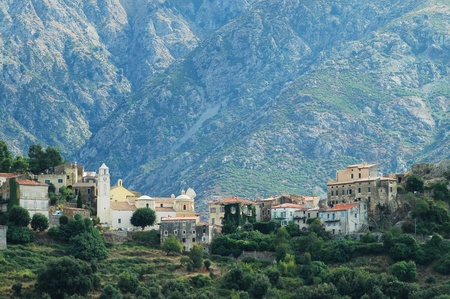 Village of Belgodere in Balagne, Corsica photo