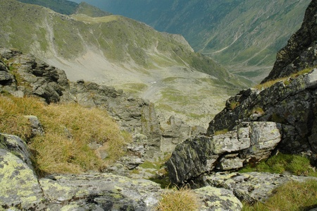 View from the Negoiu peak, Fagaras mountains, Romania  photo