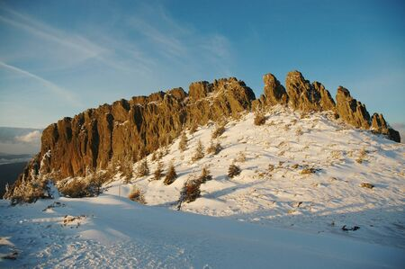 Winter mountains, Creasta Cocosului, Romania  photo