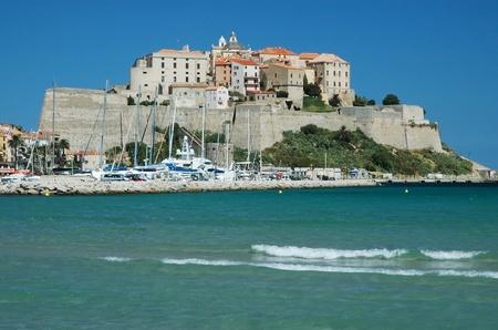 The fortress of Calvi, Corsica Foto de archivo