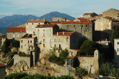 Late afternoon lights in Sartene, Corsica  photo