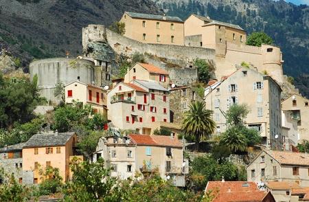 the citadel: Corte Citadel, Corsica, Francia Archivio Fotografico