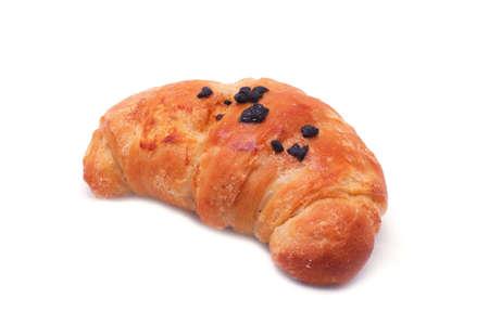 Single fresh croissant isolated on white Stock Photo - 11742254