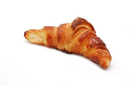 Single fresh croissant isolated on white Stock Photo - 11742252