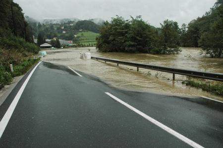 overrun: Flooded Road in Slovenia