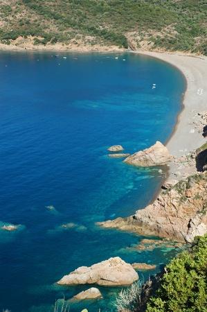 plage: Plage de Bussaglia, Corsica, France Stock Photo
