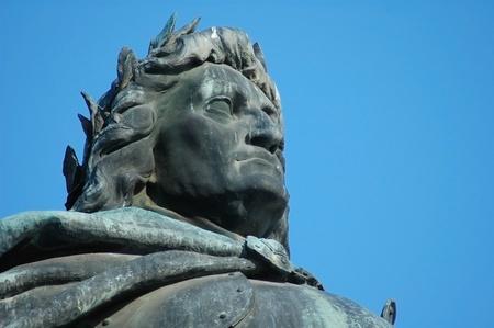 napoca: Sculpture detail of the hungarian King Mathias statue group (Matyas, Matei, Corvin) in Cluj Napoca. Transylvania, Romania