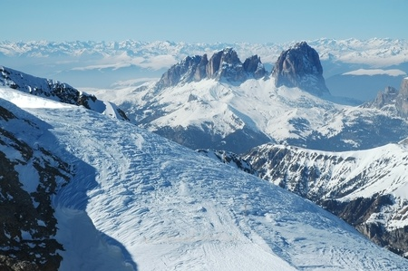 Dolomities, Dolomiti - Italy in wintertime  photo