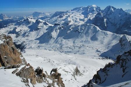 Ski resort Dolomities, Dolomiti - Italy in wintertime Stock Photo - 11909728