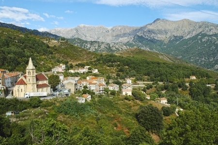 The village of Vivario, Haute-Corse, Corsica, France