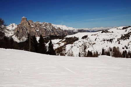 Ski resort Dolomities, Dolomiti - Italy in wintertime  Stock Photo - 11957534