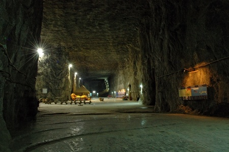 grandiose: Praid (Parajd) underground salt mine  Stock Photo