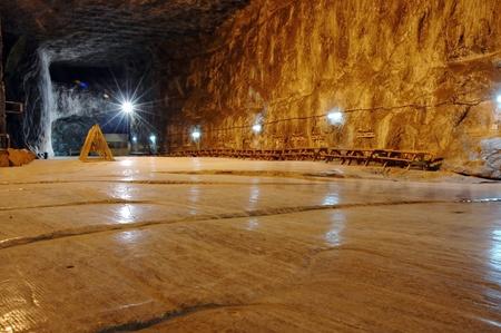 Praid (Parajd) ondergrondse zoutmijn Stockfoto