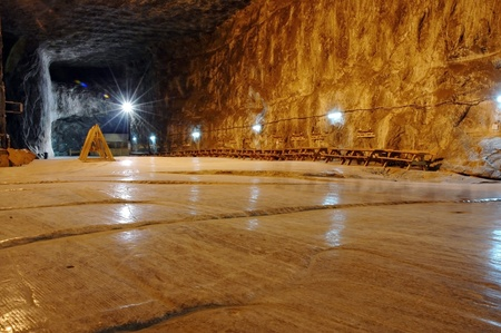 Praid (Parajd) underground salt mine  Stock Photo