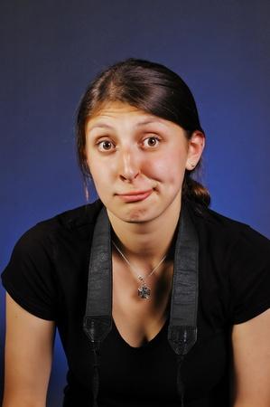 clowngesicht: Freakige Clown Gesicht M�dchen