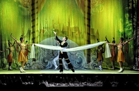 CLUJ NAPOCA, ROMANIA – JANUARY 18: The russian Sankt Petersburg State Ballet on Ice performs The Nut Cracker in the National Theater of Cluj Napoca, on January 18, 2012 in Cluj-Napoca, Romania