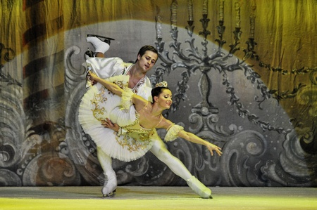 CLUJ NAPOCA, ROMANIA � JANUARY 18: The russian Sankt Petersburg State Ballet on Ice performs The Nut Cracker in the National Theater of Cluj Napoca, on January 18, 2012 in Cluj-Napoca, Romania