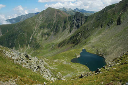 Avrig lake, Fagaras mountains, Romania