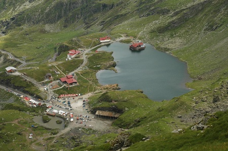 balea: Balea lake, Fagaras mountains, Romania
