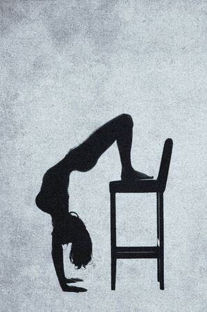 Abstract aerobic - vintage image photo