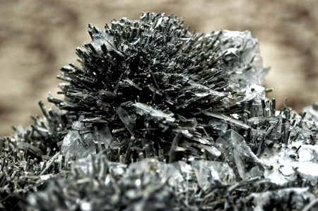 Stibnite, antimony Stock Photo