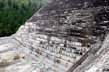 white marble: Quarry of white marble, Ruschita, Romania