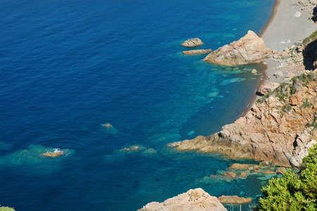 plage: Plage de Bussaglia beach, Corsica, France