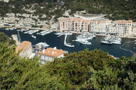 Bonifacio harbor, Corsica photo