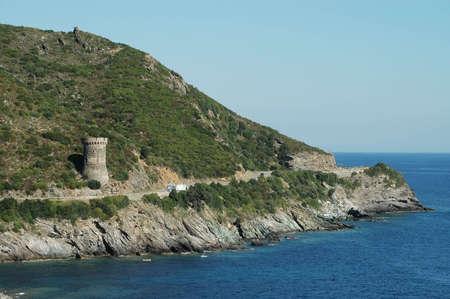 genoese: Genoese tower in Corsica Stock Photo