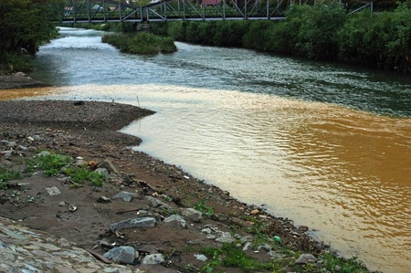 Contaminated water, environmental damage due to mining photo