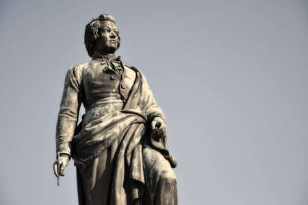 amadeus mozart: La estatua del famoso compositor Wolfgang Amadeus Mozart en Salzburgo, Austria