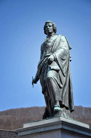 wolfgang: The statue of Wolfgang Amadeus Mozart in Salzburg, Austria